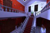 Manor interiér - hala — Stock fotografie