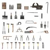 Large colection of tools — Stock Photo