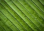 Green wooden slatted board — Stock Photo