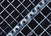 Abstract iron stair matting — Stock Photo