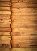 Horizontal wooden paneling profile — Stock Photo