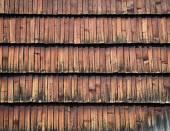 Wall of wooden shingles — Stock Photo