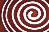 White spiral on clay pottery ceramics — Stock Photo