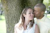 Happy Young Interracial Couple — Stock Photo