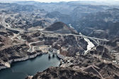 Hoover Dam from a helicopter. — Stock Photo