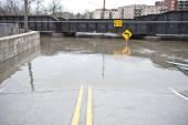 Flooded Roadway — Stock Photo