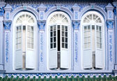 Shophouse Windows, Singapore — Stock Photo
