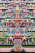 Ornate carvings of an Indian Temple, Singapore — Stock Photo