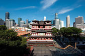 Buddha's Relic Tooth Temple in Singapore Chinatow — Stock Photo
