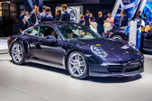 MOSCOW, RUSSIA - AUG 2012: PORSCHE 911 CARRERA S COUPE 991 presented as world premiere at the 16th MIAS (Moscow International Automobile Salon) on August 30, 2012 in Moscow, Russia — Stock Photo