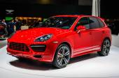 MOSCOW, RUSSIA - AUG 2012: PORSCHE CAYENNE GTS 2 GENERATION presented as world premiere at the 16th MIAS (Moscow International Automobile Salon) on August 30, 2012 in Moscow, Russia — Stock Photo