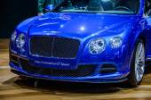 MOSCOW, RUSSIA - AUG 2012: BENTLEY CONTINENTAL GT SPEED 2ND GENERATION presented as world premiere at the 16th MIAS (Moscow International Automobile Salon) on August 30, 2012 in Moscow, Russia — Stock Photo