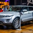 Постер, плакат: MOSCOW RUSSIA AUG 2012: LAND ROVER RANGE ROVER EVOQUE presented as world premiere at the 16th MIAS Moscow International Automobile Salon on August 30 2012 in Moscow Russia