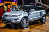 MOSCOW, RUSSIA - AUG 2012: LAND ROVER RANGE ROVER EVOQUE presented as world premiere at the 16th MIAS (Moscow International Automobile Salon) on August 30, 2012 in Moscow, Russia — Stock Photo