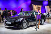 MOSCOW, RUSSIA - AUG 2012: INFINITI G SEDAN 2ND GENERATION presented as world premiere at the 16th MIAS (Moscow International Automobile Salon) on August 30, 2012 in Moscow, Russia — Stock Photo