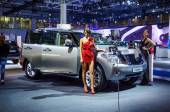 MOSCOW, RUSSIA - AUG 2012: NISSAN PATROL Y62 presented as world premiere at the 16th MIAS (Moscow International Automobile Salon) on August 30, 2012 in Moscow, Russia — Stock Photo