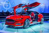 MOSCOW, RUSSIA - AUG 2012: FORD EVOS CONCEPT presented as world premiere at the 16th MIAS (Moscow International Automobile Salon) on August 30, 2012 in Moscow, Russia — Stock Photo