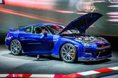 MOSCOW, RUSSIA - AUG 2012: NISSAN GT-R R35 presented as world premiere at the 16th MIAS (Moscow International Automobile Salon) on August 30, 2012 in Moscow, Russia — Stock Photo