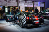 MOSCOW, RUSSIA - AUG 2012: NISSAN GT-R R35 SAFETY CAR presented as world premiere at the 16th MIAS Moscow International Automobile Salon on August 30, 2012 in Moscow, Russia — Stock Photo