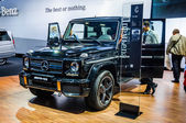 MOSCOW, RUSSIA - AUG 2012: MERCEDES-BENZ G-CLASS AMG W463 presented as world premiere at the 16th MIAS Moscow International Automobile Salon on August 30, 2012 in Moscow, Russia — Stock Photo