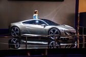 MOSCOW, RUSSIA - AUG 2012: HONDA NSX CONCEPT presented as world premiere at the 16th MIAS Moscow International Automobile Salon on August 30, 2012 in Moscow, Russia — Foto de Stock