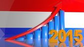 Growth of business in 2015 in the Netherlands, the positive schedule — Stock Photo