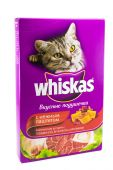 OSINNIKI, RUSSIA - DECEMBER 15, 2014: Pack of Whiskas  Cat Food on a White Background — Stock Photo