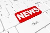 "Button ""NEWS"" on keyboard — Stockfoto"