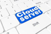 "Button ""Cloud server"" on keyboard — Stock Photo"