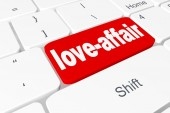 "Button ""love-affair"" on keyboard — Stock Photo"