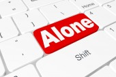 "Button ""Alone"" on keyboard — Stock Photo"