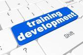 "Button ""training development"" on keyboard — Fotografia Stock"