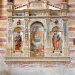Постер, плакат: PADUA ITALY SEPTEMBER 9 2014: The Madonna with the child by Bonino da Campione 14 cent in the church of The Eremitani Chiesa degli Eremitani on the tomb of Umberto da Carrara