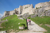 Spissky castle - Look from middle castle courtyard — Foto Stock