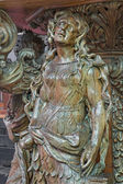 BRUGGE, BELGIUM - JUNE 12, 2014: The carved statue st. Mary of Magdalen on the pulpit in st. Jocobs church (Jakobskerk) by B. de Lannoy (1685-1689) — Stock Photo