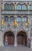 BRUGES, BELGIUM - JUNE 12, 2014: The portal of the Basilica of holy blod. — Stockfoto