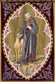 Brügge, belgien - 13. juni 2014: heiligen egidius von alten flagge in st. giles kirche (sint-gilliskerk) — Stockfoto