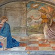PADUA, ITALY - SEPTEMBER 8, 2014: The Annunciation in the church San Francesco del Grande in chapel Cappella di Santa Maria della Carita by Girolamo Tessari (1523 - 24) — Stock Photo #54202001