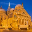 PADUA, ITALY - SEPTEMBER 8, 2014: Basilica del Santo or Basilica of Saint Anthony of Padova in evening dusk. — Stock Photo #54203693