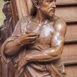 ������, ������: MECHELEN BELGIUM JUNE 14 2014: The carved statue of st John the baptist on the entry of the pulpit by Willem Ignatius Kerrickx 1718 in church Our Lady across de Dyle
