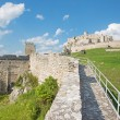 Spissky castle - Look from down castle courtyard over the wall — Stock Photo #54209513