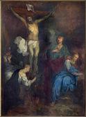 Bruges, Belgique - 12 juin 2014 : la crucifixion par l. dedeyster (1634), dans l'église de st. jacobs (jakobskerk). — Photo