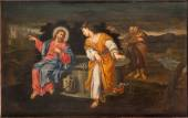 PADUA, ITALY - SEPTEMBER 10, 2014: Paint of Jesus and Samaritans at well scene in the church Chiesa di San Gaetano and the chapel of the Crucifixion by unknown painter form 17. cent. — Stock Photo