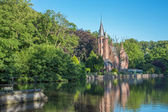 Bruges - Minnewater park in eveing light — Stockfoto