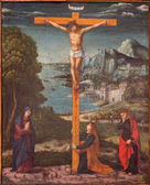 PADUA, ITALY - SEPTEMBER 10, 2014: Paint of the Crucifixion scene in the church Chiesa di San Gaetano and the chapel of the Crucifixion by unknown painter from 17th century — Stock Photo