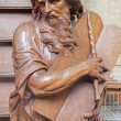 Постер, плакат: MECHELEN BELGIUM JUNE 14 2014: The carved statue of Moses on the entry of the pulpit by Willem Ignatius Kerrickx 1718 in church Our Lady across de Dyle
