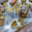Постер, плакат: Alps beck under the Hochkonig peak in the calcite rock Austria