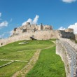 Spissky castle - Look from down castle courtyard — Stock Photo #54214445