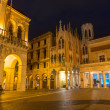 PADUA, ITALY - SEPTEMBER 10, 2014: The Caffe Pedrocchi and part of Palazzo del Podesta at night. — Stock Photo #54216237