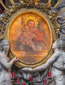 PADUA, ITALY - SEPTEMBER 9, 2014: The paint of Madonna from side altar in church Basilica del Carmine by Stefano Dall'Arzere from 16. cent. — Stock Photo
